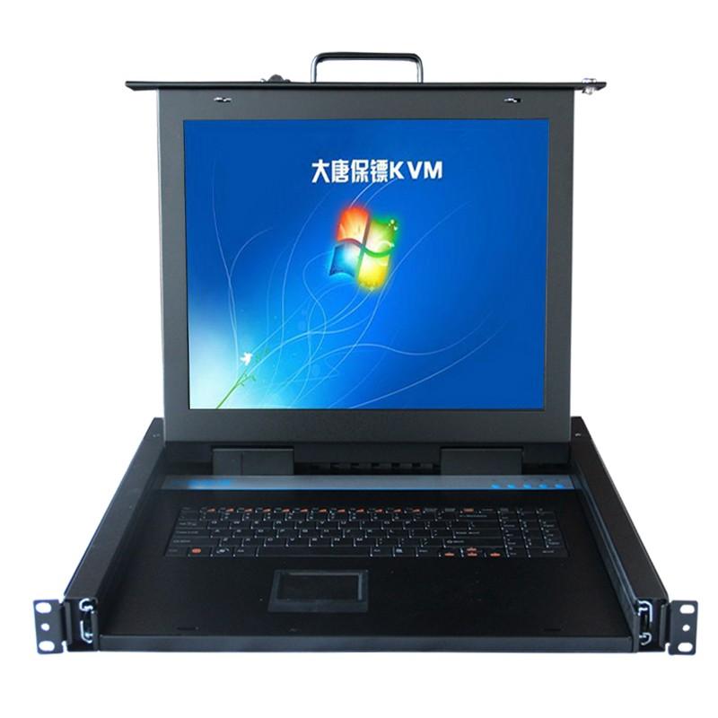 大唐保镖 17寸1口KVM机架式LCD切换器HL-1801 USB