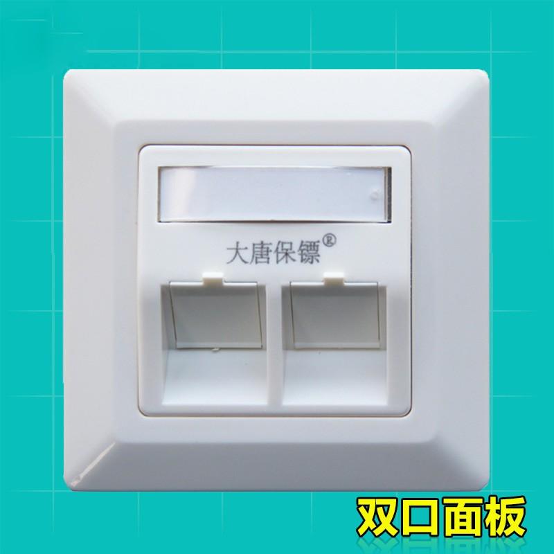 大唐保镖 双口屏蔽面板网络模块 网络面板 DT2801-2P