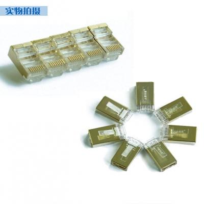 大唐保镖六类镀金屏蔽水晶头DT2802-6DP