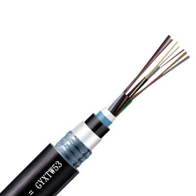 大唐保镖 大唐4芯 多模 GYXTW53 A护套纵包钢带 铠装 PE护套光缆