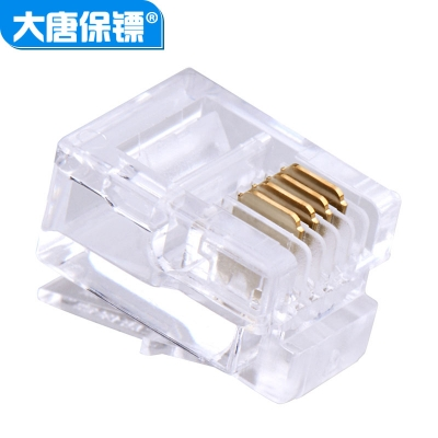大唐保镖rj11电话水晶头DT2802-4